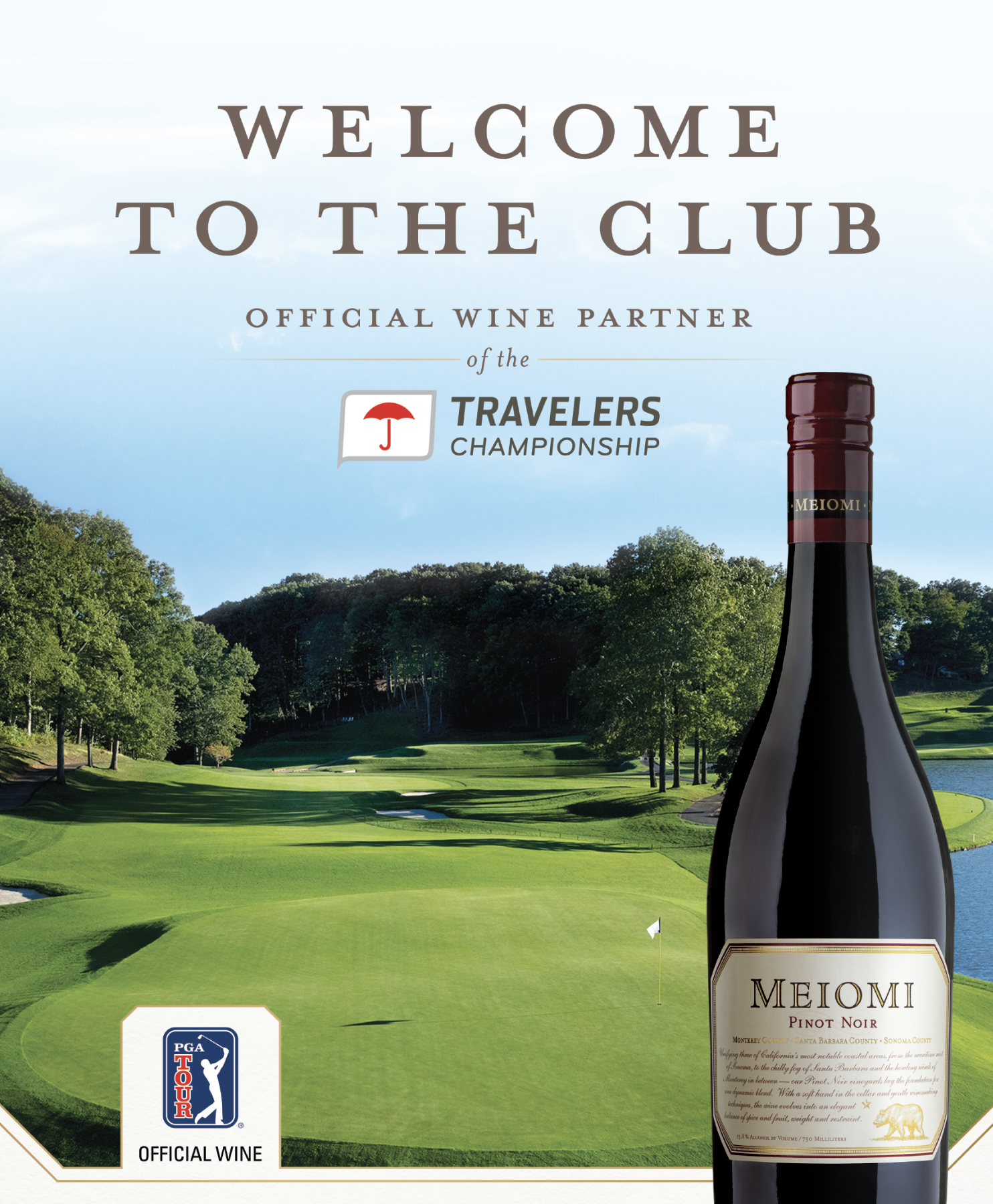 "Meiomi Wines Becomes ""Official Wine"" of the PGA TOUR and PGA"