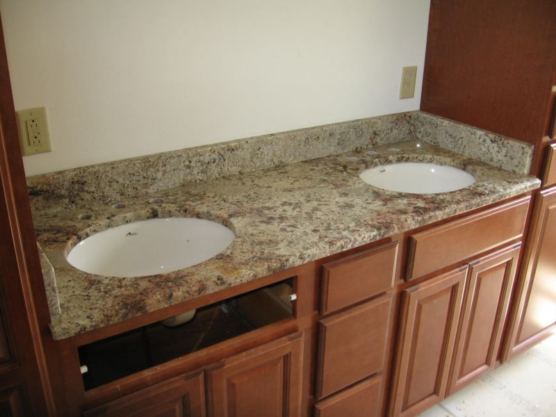 es countertops granite ivory coast double sink vanity top rh escountertops net 24 Bathroom Vanity with Sink Rustic Bathroom Vanities and Sinks