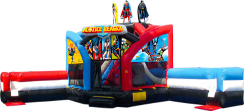 Justice League Double Challenge Bounce House Waterslide WET or DRY image - Jacksonville, FL