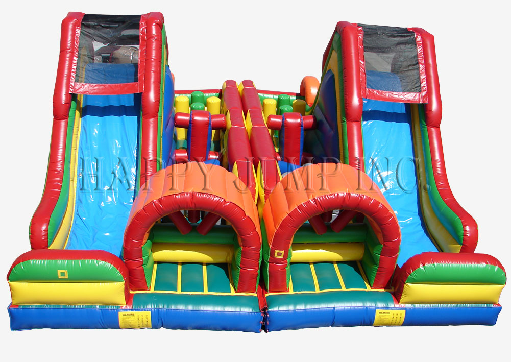 Carnival Course Double Challenge Bounce House Water Slide Image    Jacksonville, FL