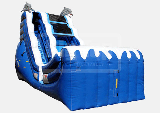 Dolphin Wave Slide 18' Bounce House Waterslide WET or DRY, Rentals