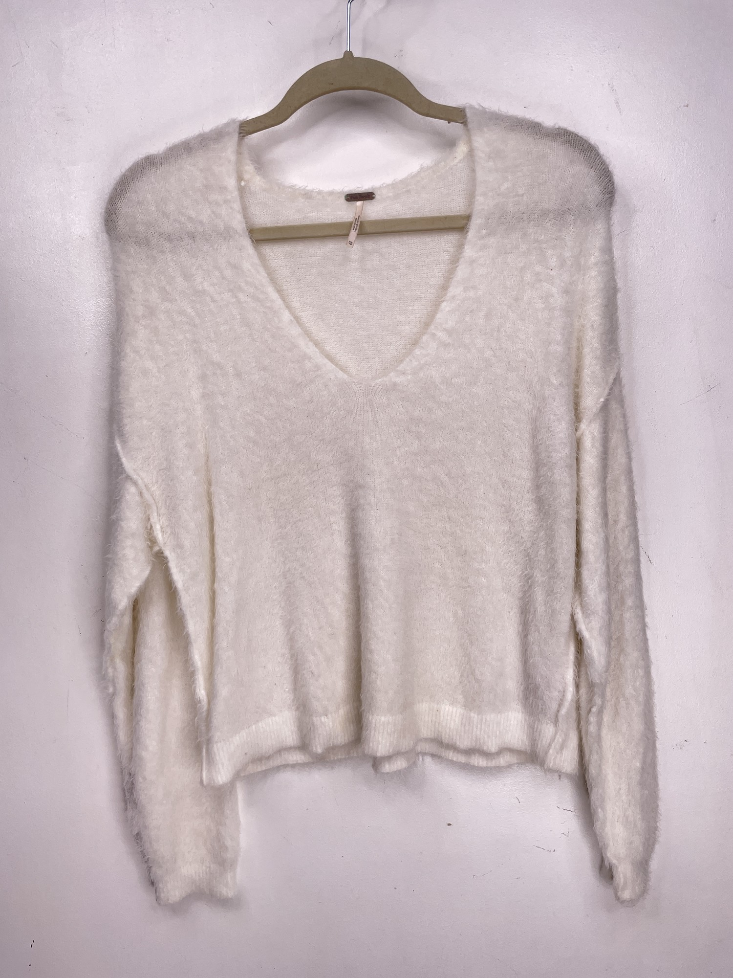 Free People Sweater, Wht, Size: S