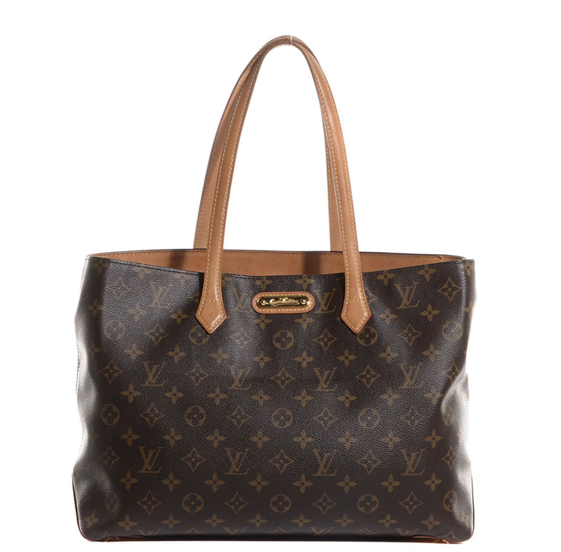 Louis Vuitton Wilshire MM, Brown, Size: .LV<br /> Very good condition. Water spots on leather. Spectacular bag!