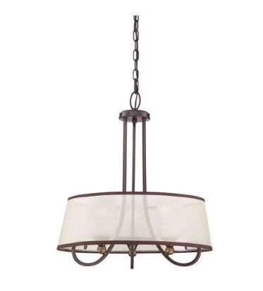 Palmer 3 Light Pendant, Brown, Size:<br /> <br /> Dimensions and Weight<br /> Length: 20.00 in.<br /> Width: 20.00 in.<br /> Height: 23.50 in.<br /> Extension/Depth: 20.00 in.<br /> Install Position: Downwards<br /> Weight: 8.00 lb