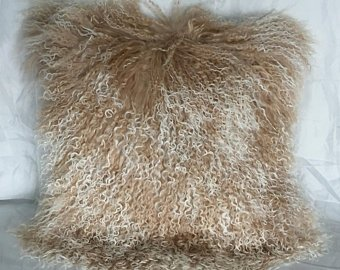 Shaggy/curley, Brown, Size: Medium