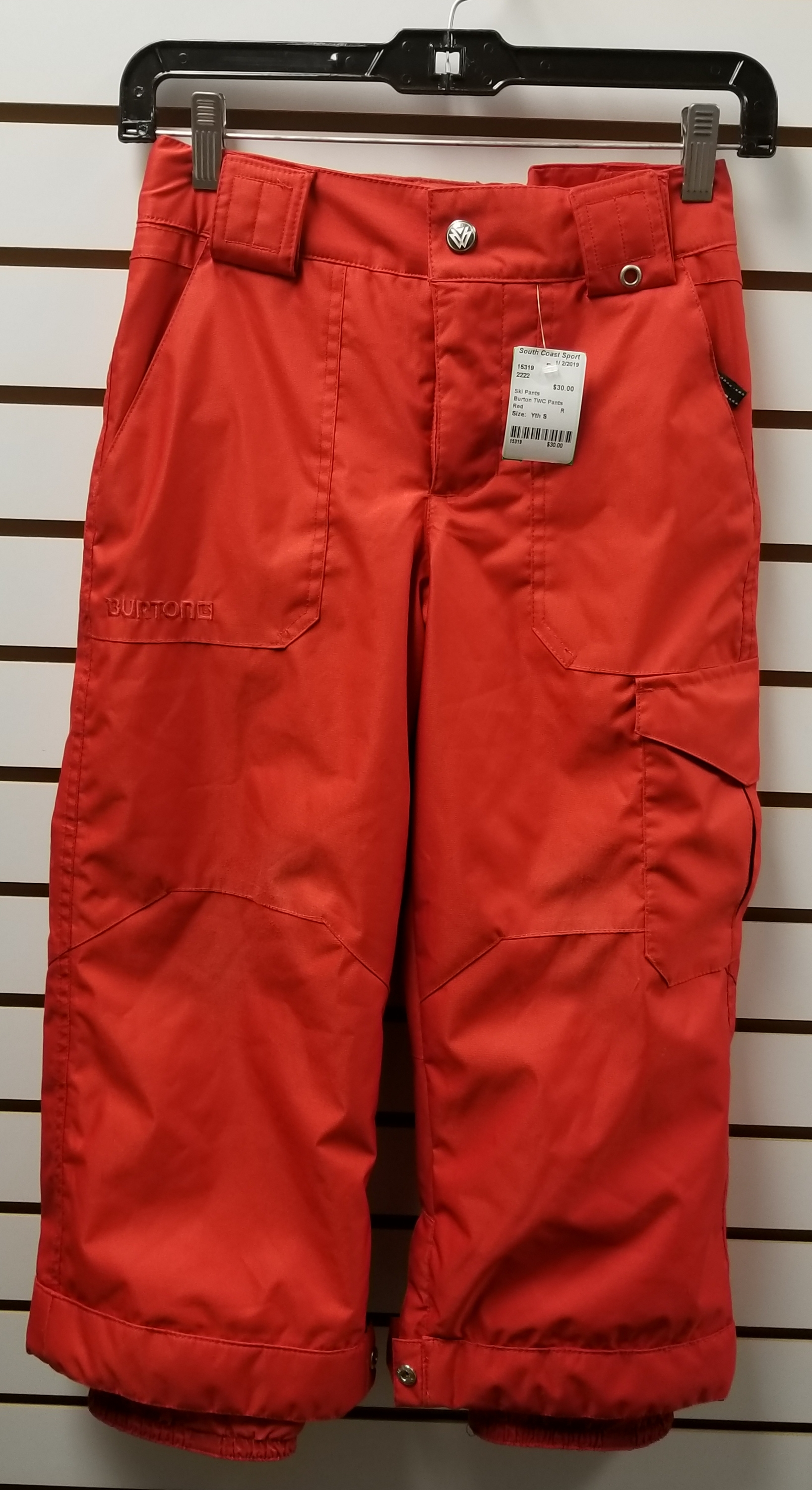 Burton The White Collection Snowboard Pants, Red, Size: Yth S