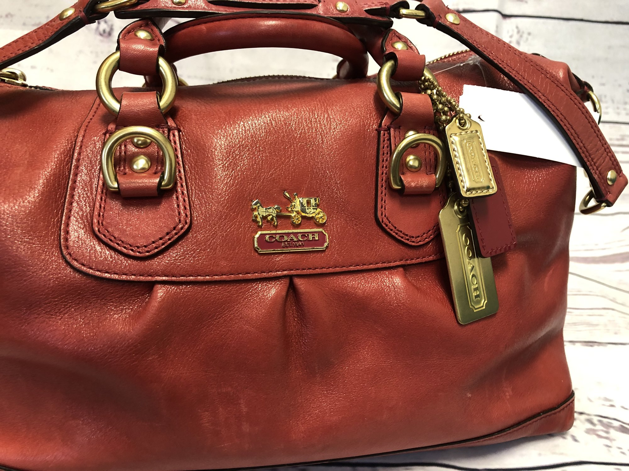 Coach Purse in gently used condition.