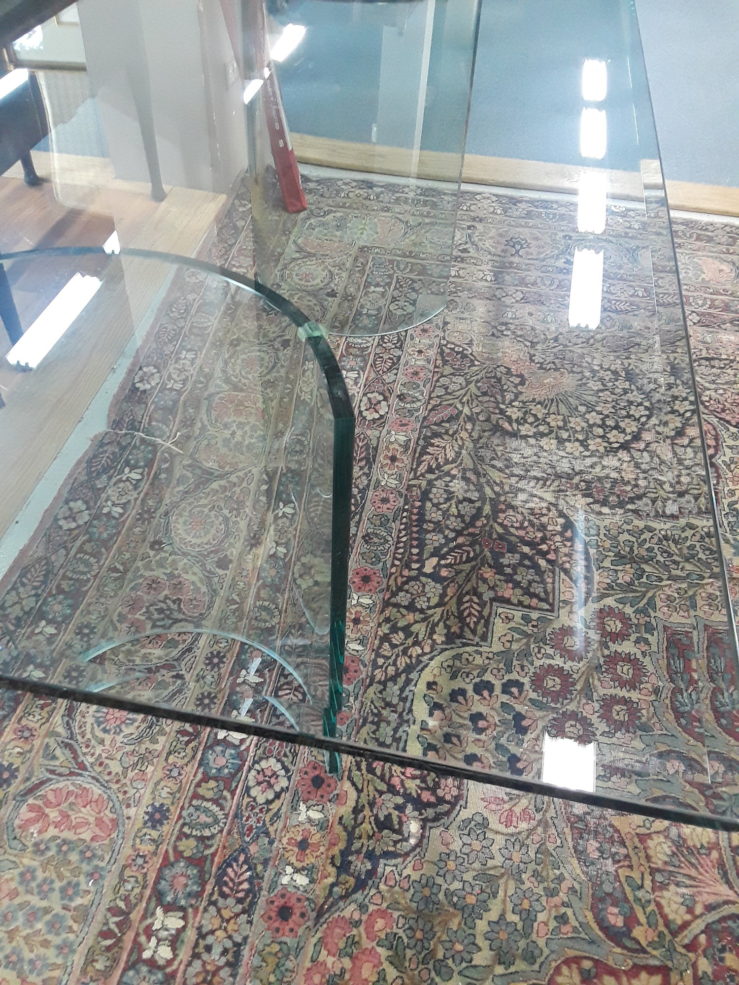 Dining Table, Glass, Size: None