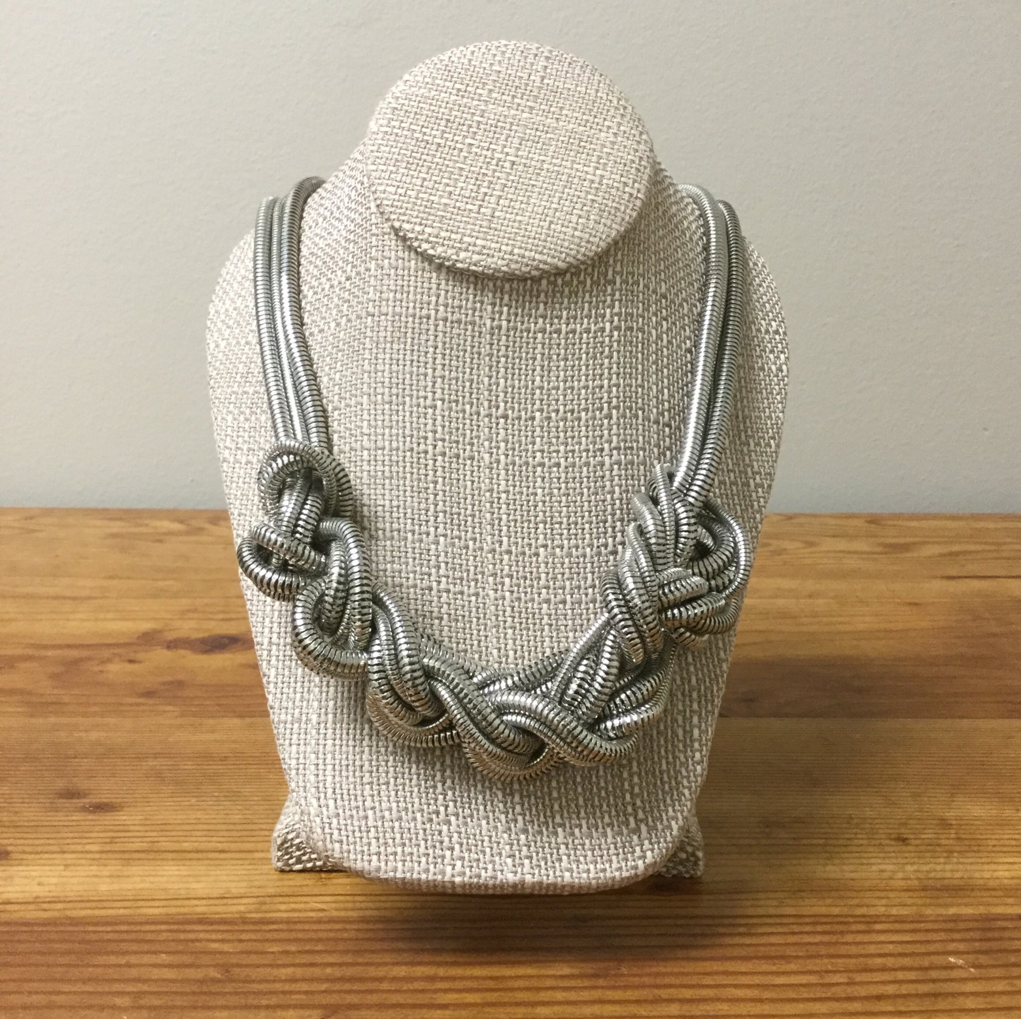 Knotted Necklace<br /> Silver<br /> $23.00
