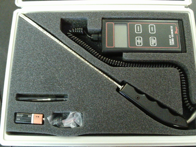 Dwyer Instruments 471-1 Digital Thermo Anemometer with Case