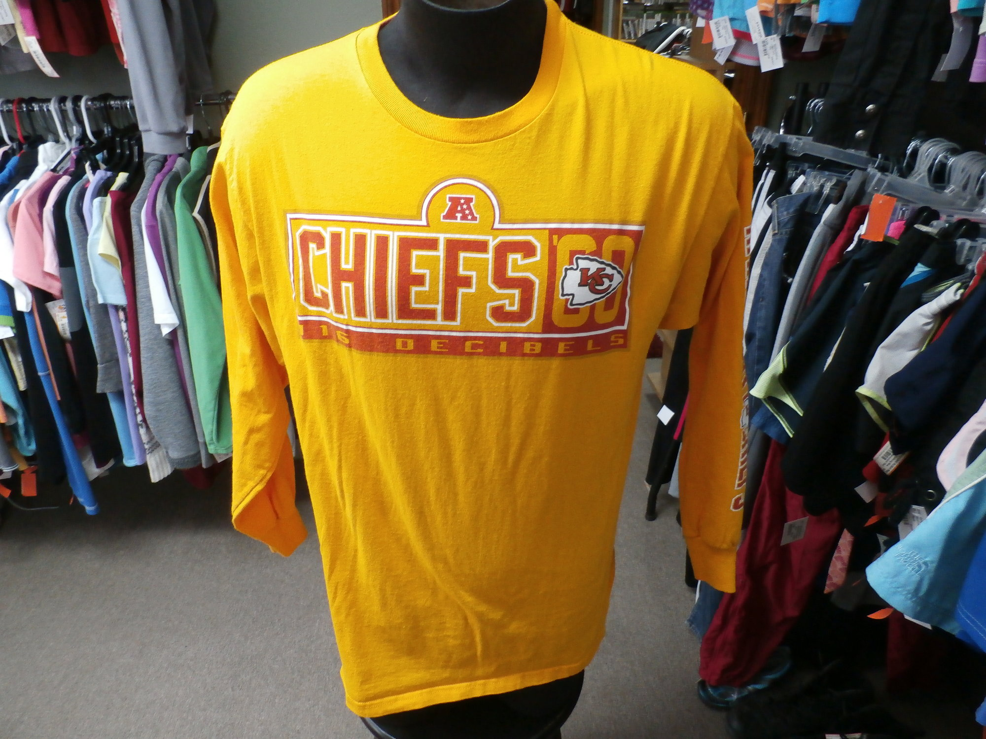 promo code defe7 aa7da KC Chiefs LS Shirt | Recycled ActiveWear ~ FREE SHIPPING USA ...