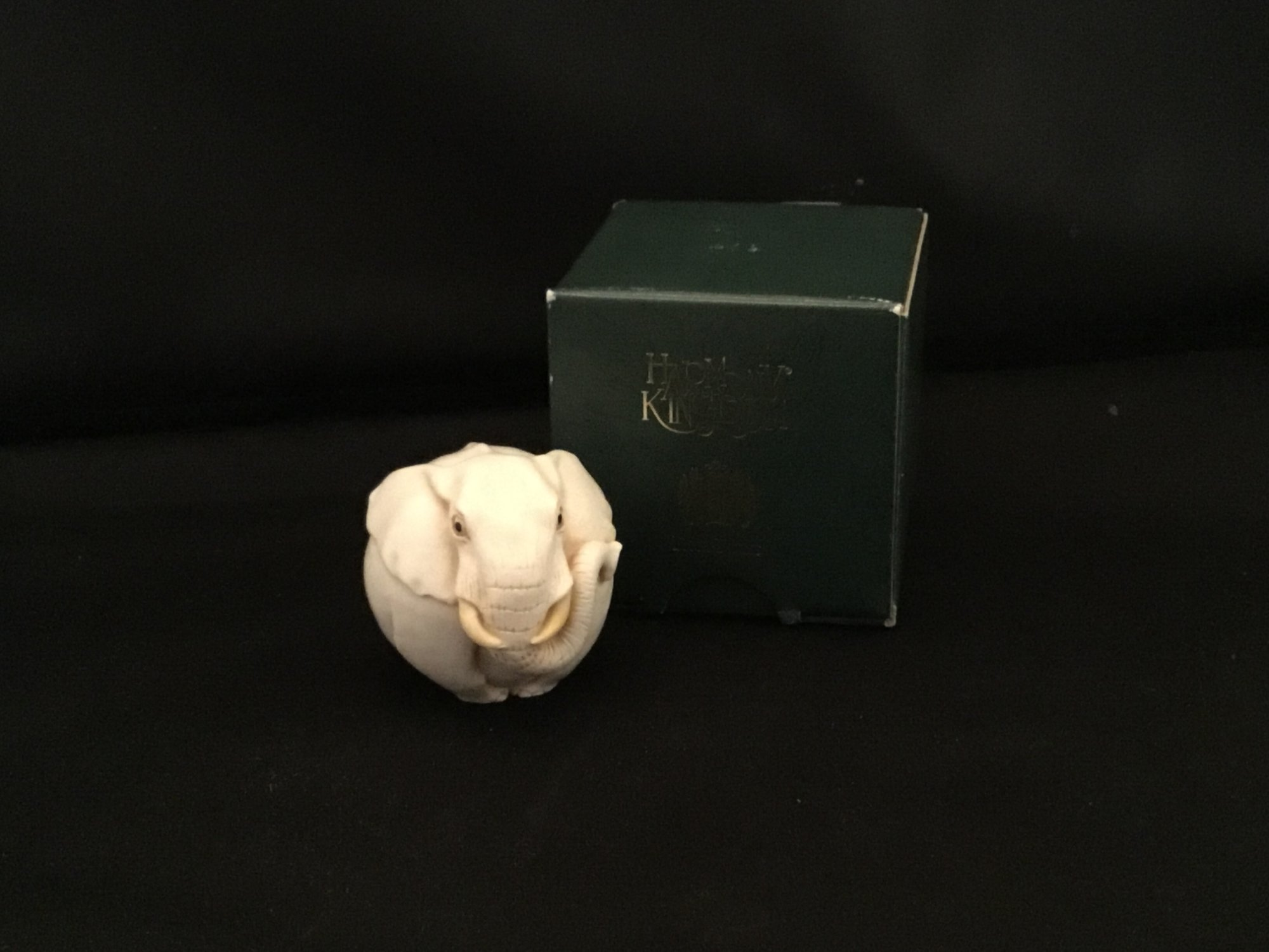 Louis is a Harmony Kingdom Roly Poly figurine made of crushed marble in the UK.  Louis is a cute little round elephant.<br /> 1 1/2&quot; tall<br /> 1 1/2&quot; wide