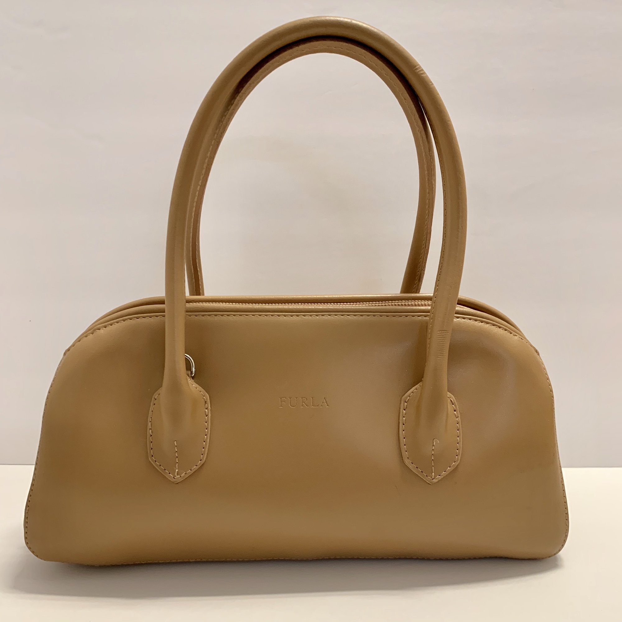 Furla Leather Satchel, Camel
