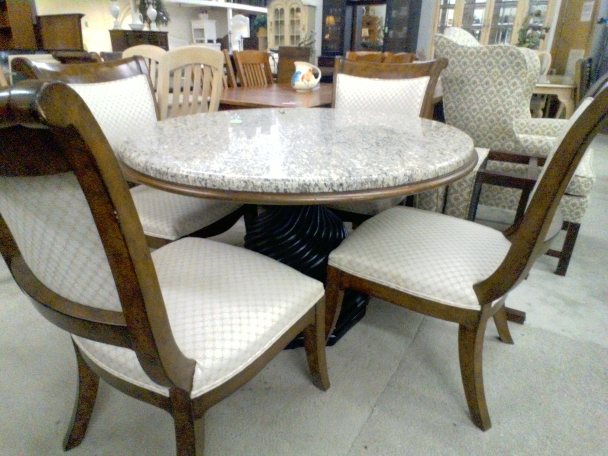 DINING TABLE & 4 CHAIRS, None, Size: None