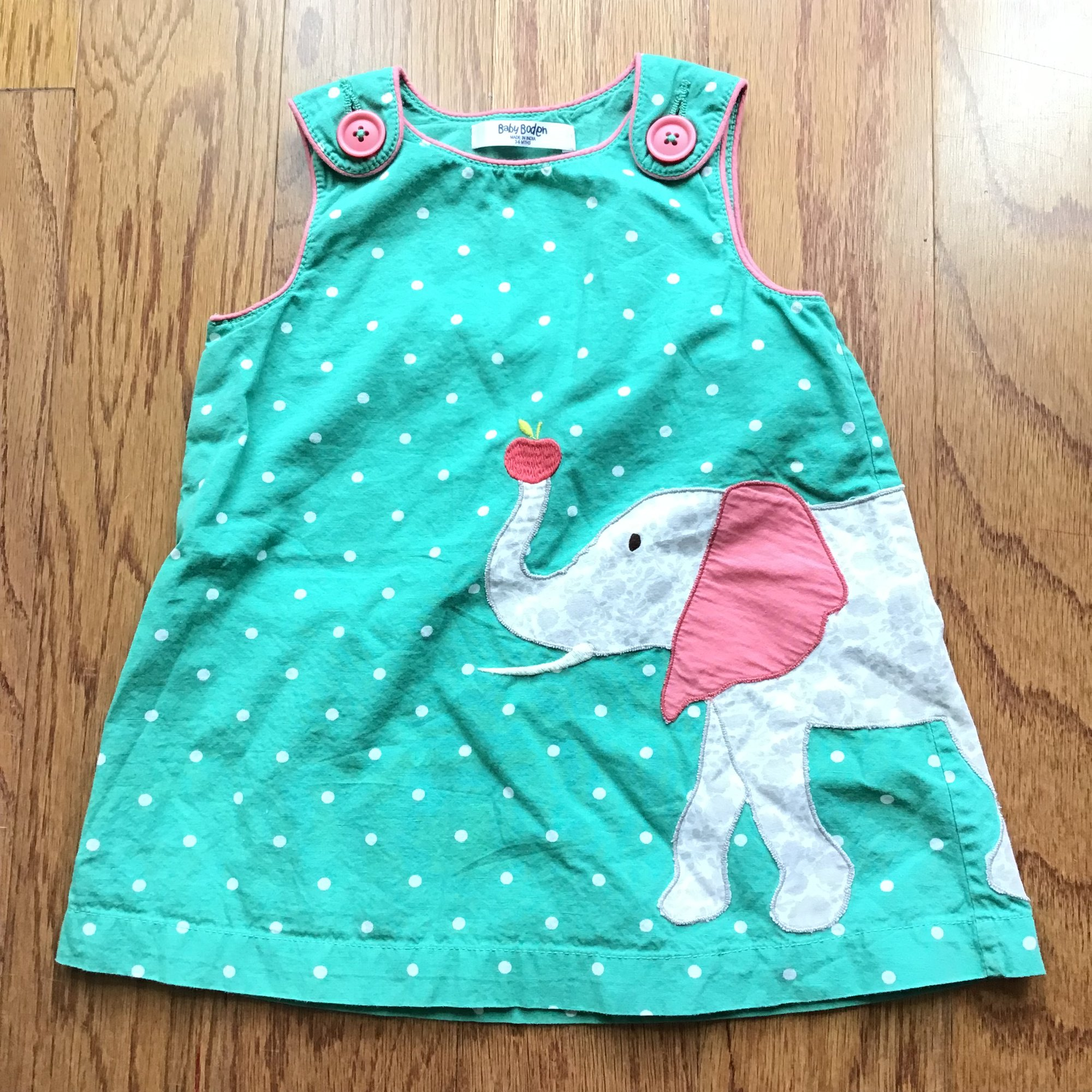 Baby Boden Dress, Green, Size: 3-6m<br /> <br /> <br /> ALL ONLINE SALES ARE FINAL. NO RETURNS OR EXCHANGES.