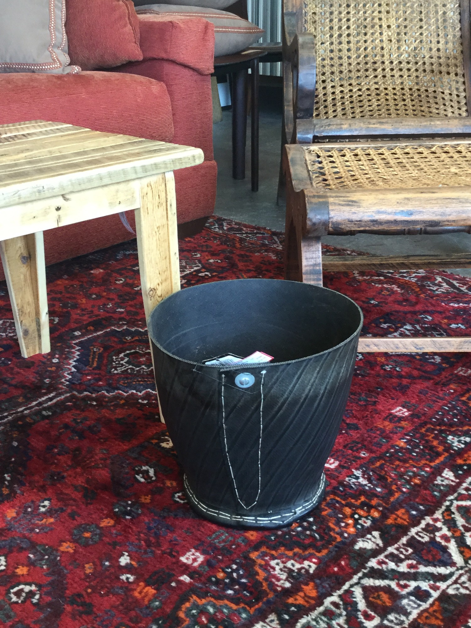 Upcycled Tire Planter, Black, Many Available, Size: 11""