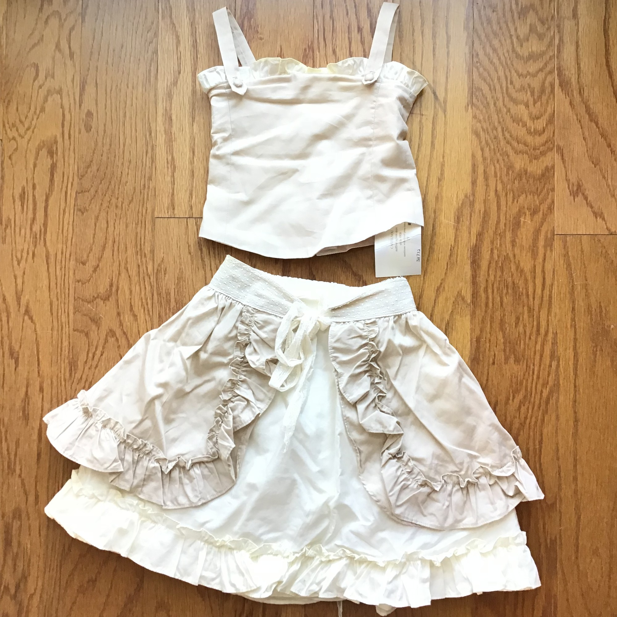 Enchanted Enfant 2pc NEW, Tan, Size: 2<br /> <br /> <br /> CORSET TOP SEEMS TO RUN SMALL AND HAS NO GIVE<br /> <br /> <br /> <br /> ALL ONLINE SALES ARE FINAL. NO RETURNS OR EXCHANGES.