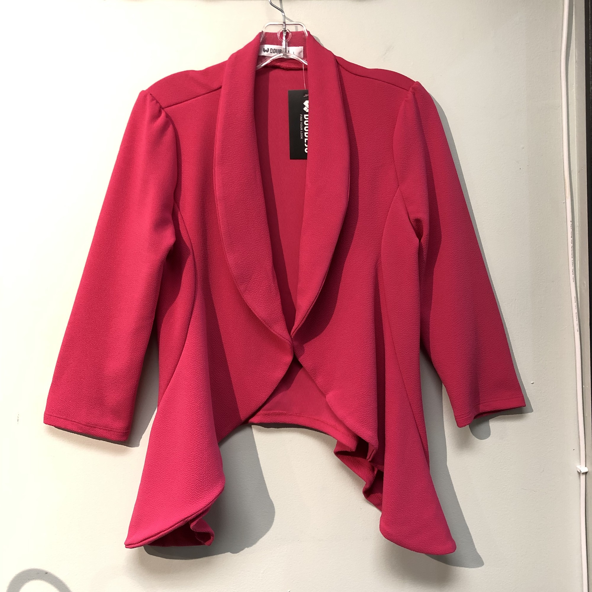 Doublju Top/Jacket<br /> Color: Hot Pink<br /> Size: Large<br /> See photos for material & care instructions