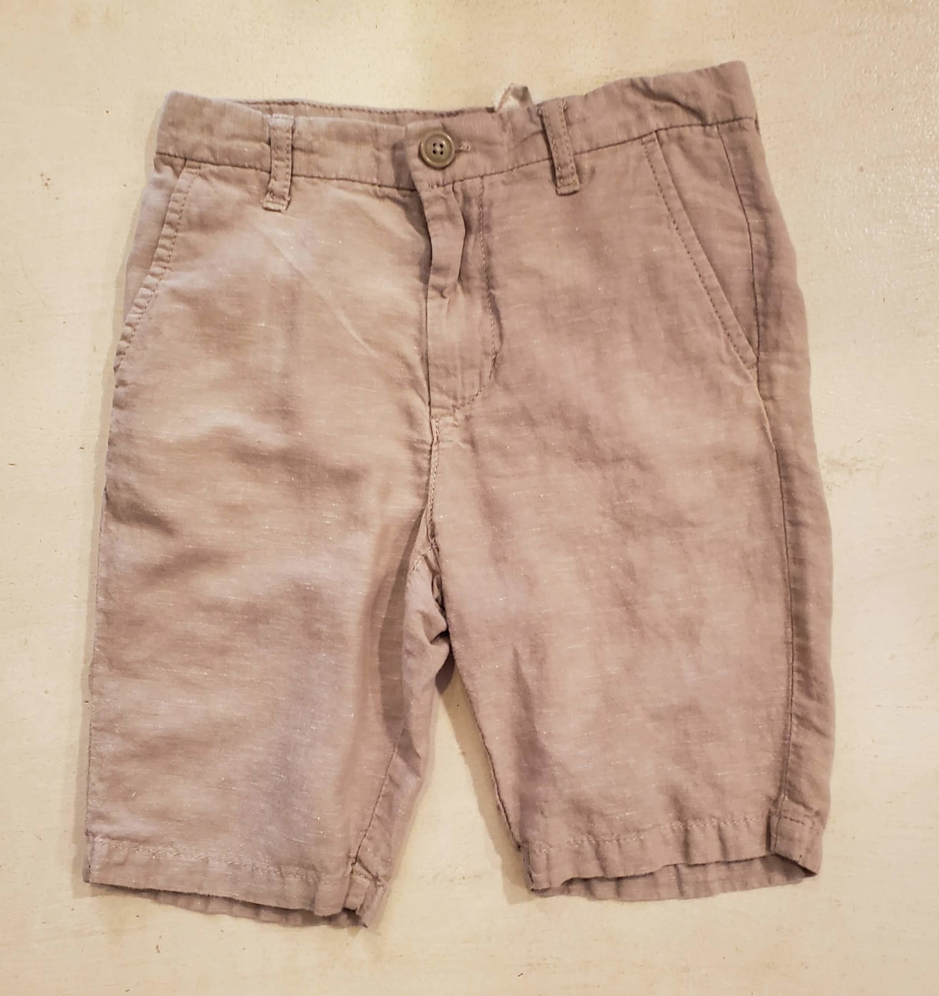 Old Navy Linen Short, Tan, Size: 7