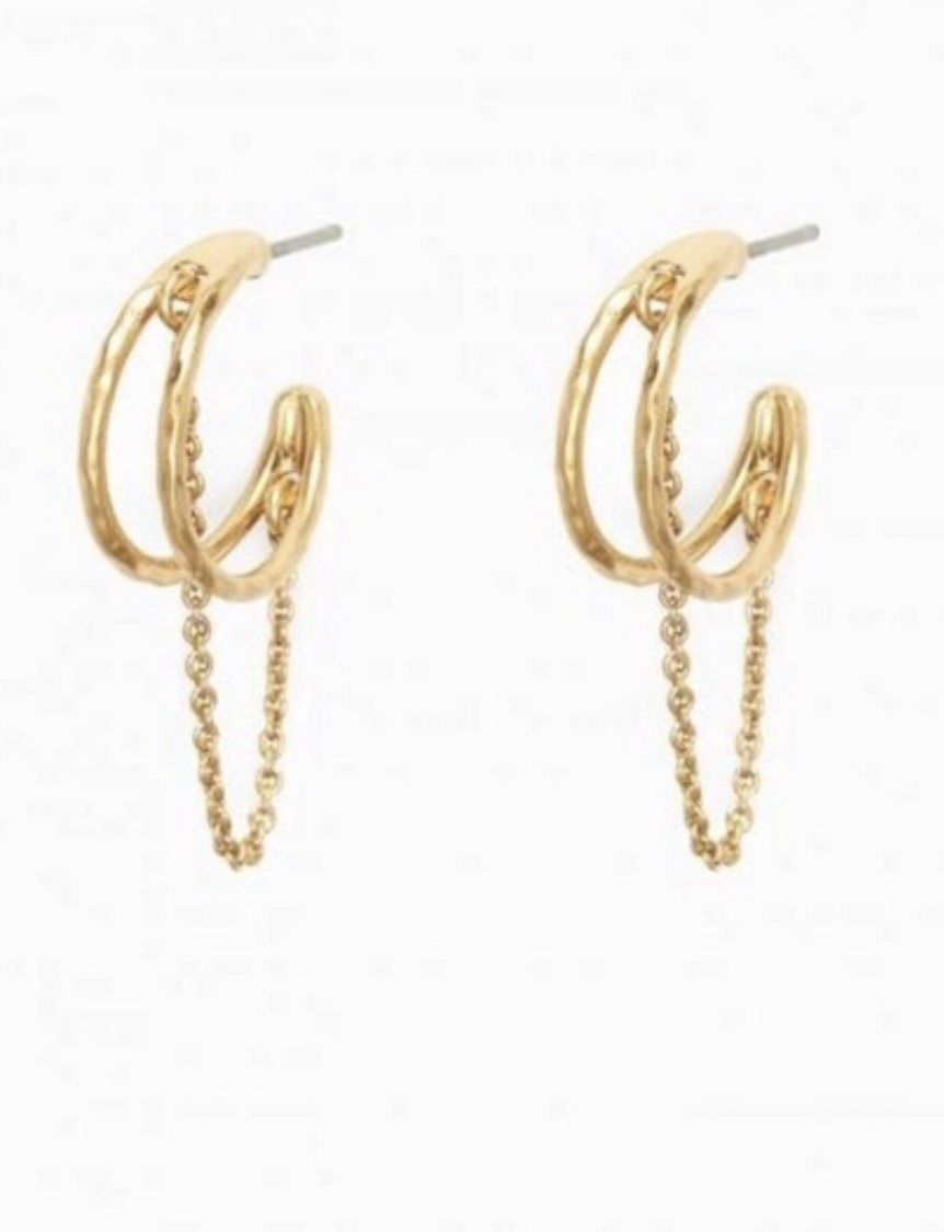 Stella Dot Illusive Hoops, Gold, Size: S