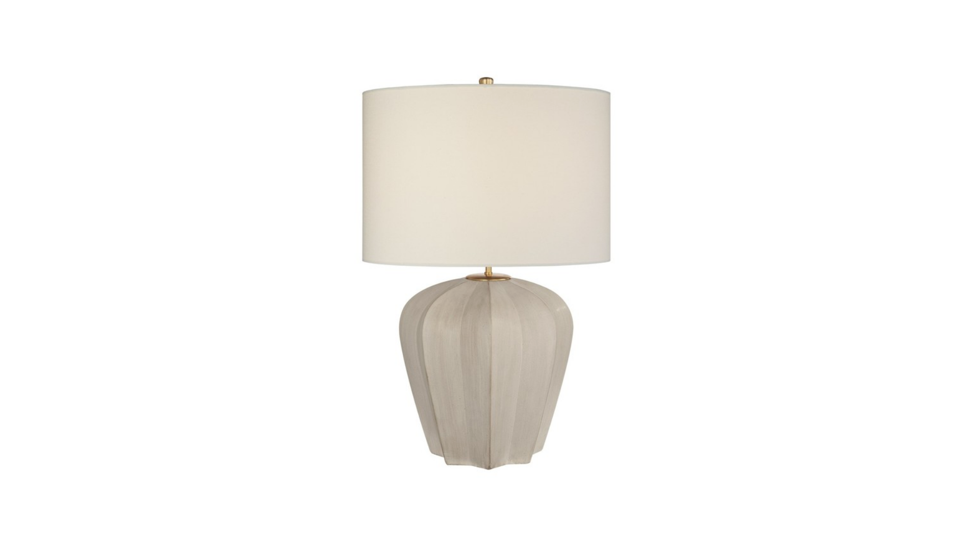 "Pair of Visual Comfort Table Lamps<br /> <br /> Product Description<br /> <br /> Visual Comfort Lighting Pierrepont Medium Table Lamp, Stone White.<br /> <br /> Details:<br /> <br /> Designer: Aerin<br /> Finish: Stone White<br /> Shade: Linen<br /> Socket: Dimmer<br /> Type of Bulb: E26 A<br /> Bulbs not included<br /> Number of Bulbs: 1<br /> Wattage Per Bulb: 75W<br /> Total Wattage: 75W<br /> UL Listing: Dry Location<br /> Dimensions: 21""W x 30""H<br /> Base Dimensions: 13.5"" Decorative"