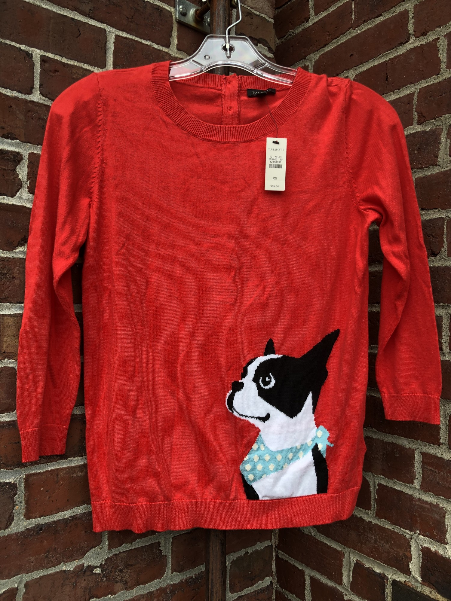 Talbots French Bulldog NW, Red, Size: XSmall