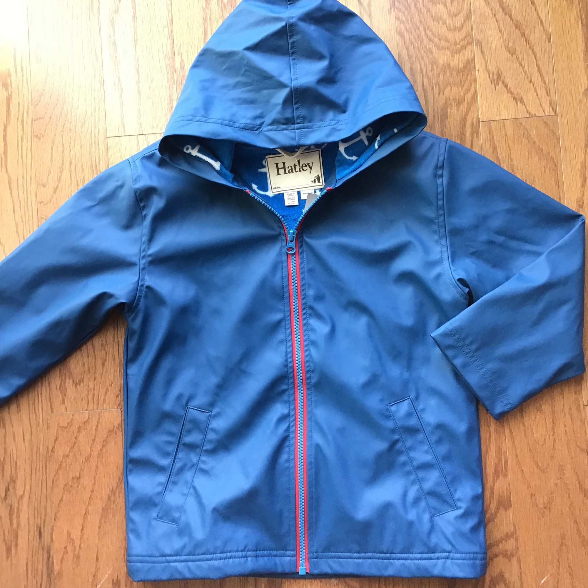 Hatley Rain Jacket, Blue, Size: 6<br /> <br /> <br /> ALL ONLINE SALES ARE FINAL. NO RETURNS OR EXCHANGES.