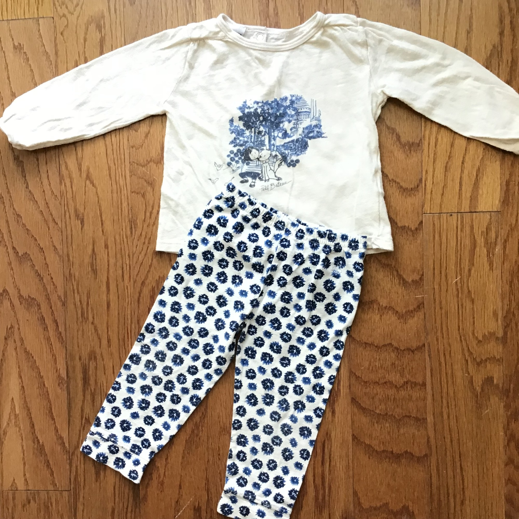 Petit Bateau 2pc Outfit, Beige, Size: 18m<br /> <br /> <br /> ALL ONLINE SALES ARE FINAL. NO RETURNS OR EXCHANGES.