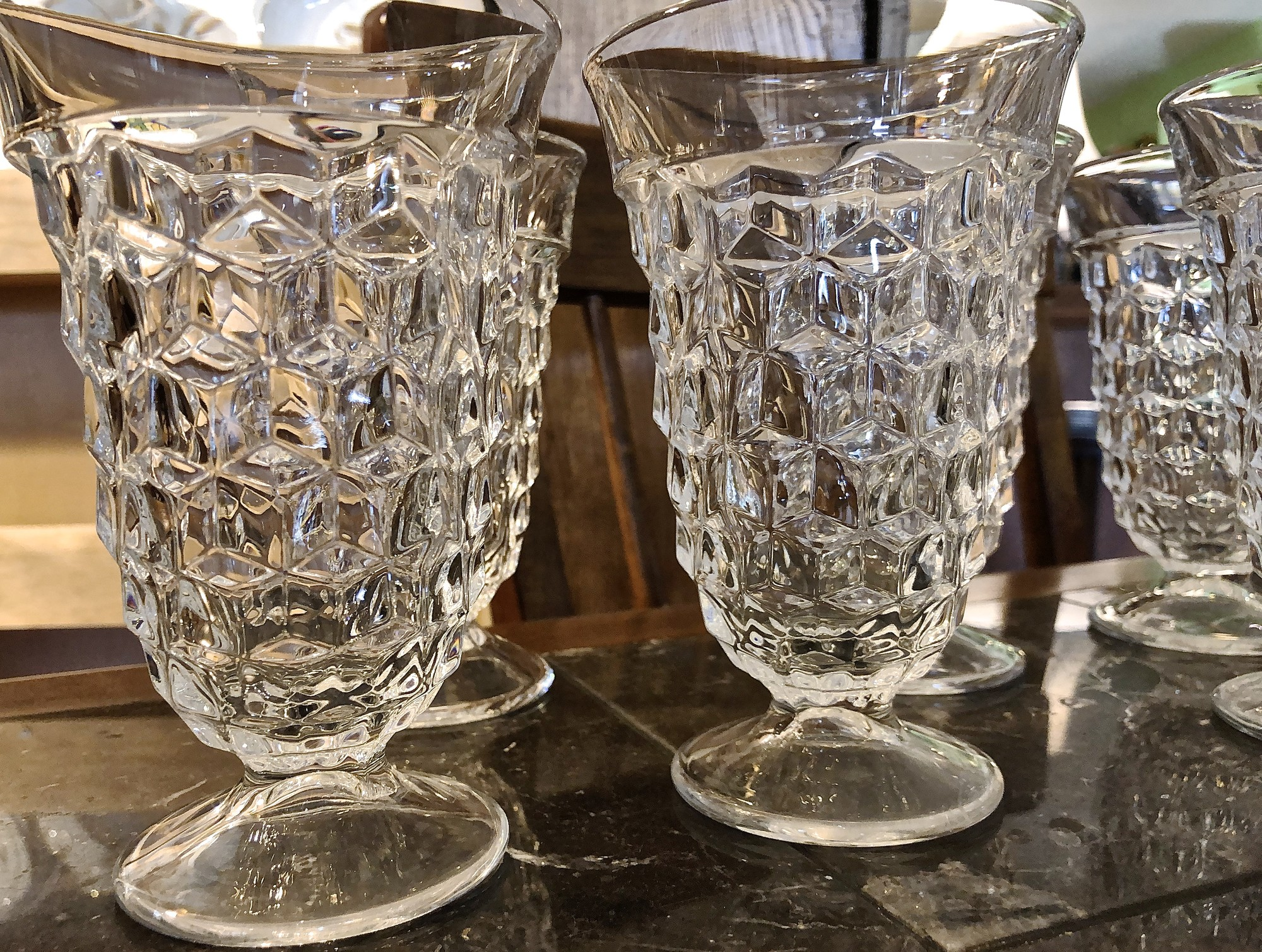 Glasses Water Fostoria, Size: Set Of 6<br /> Second set of 6 available also Item#76651