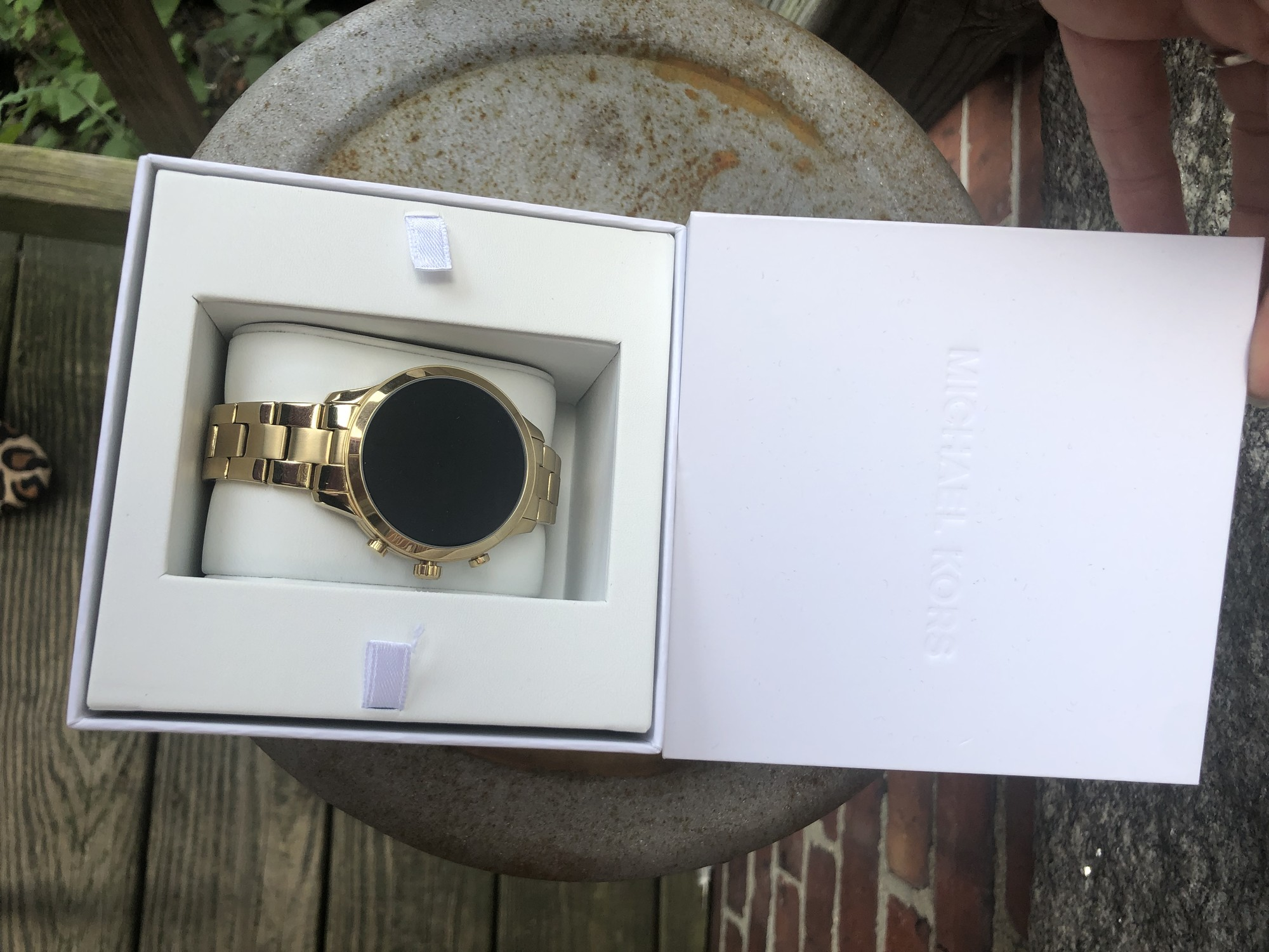 Michael Kors Access NWT, Gold, Size: One Size<br /> Heart Monitor, Rose Gold watch with paperwork and Receiot.