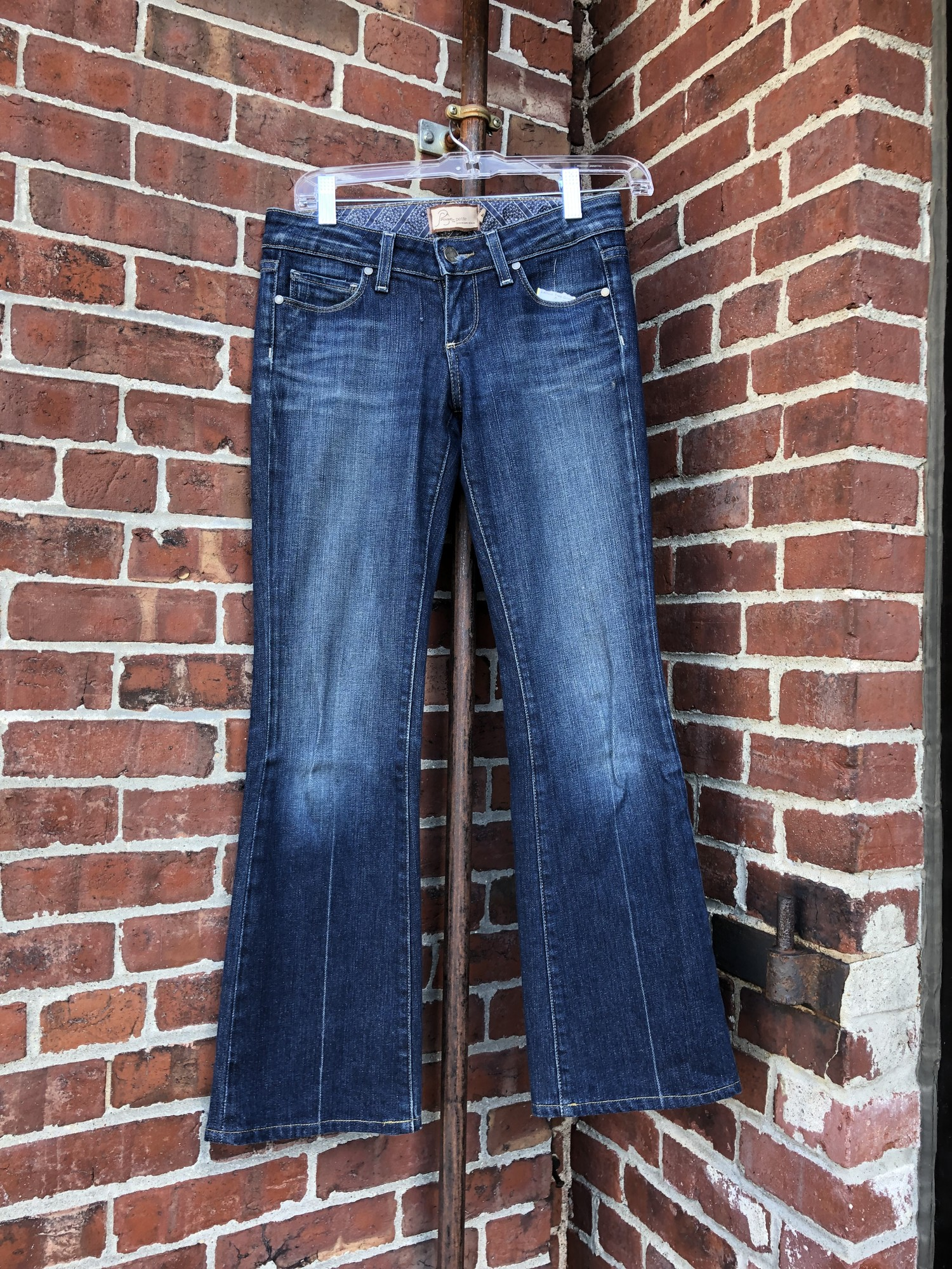 Paige Jeans, Dark Wash, Size 24. In new condition.