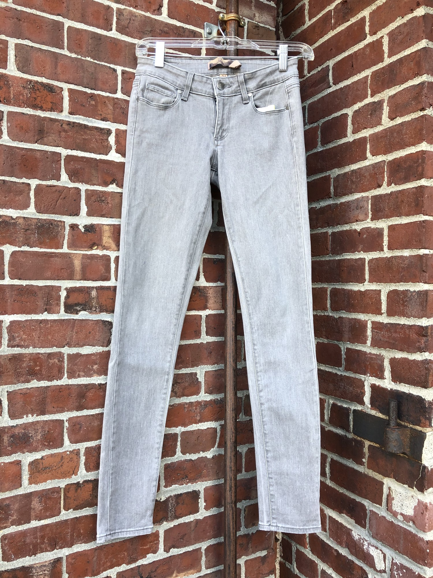 Paige Jeans, Grey, Size 24. In New Condition.
