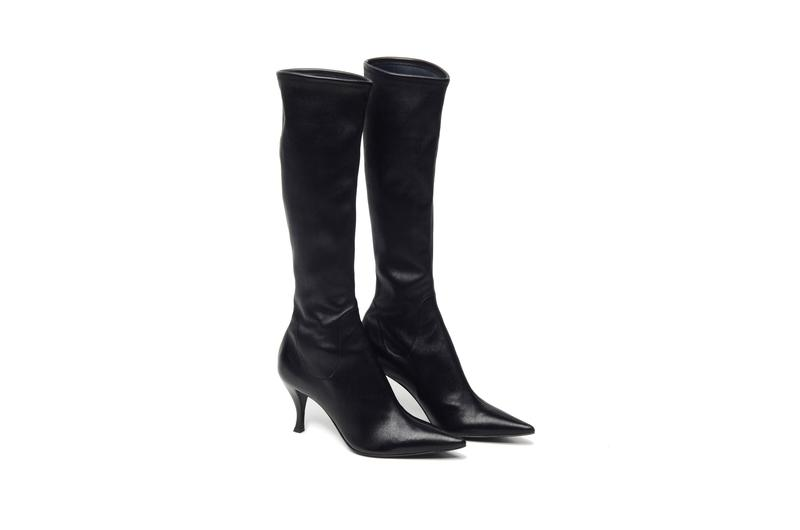 Sergio Rossi like new condition Pointy Leather Boots, Black, Size: 37.5, Orig. rtl: $795