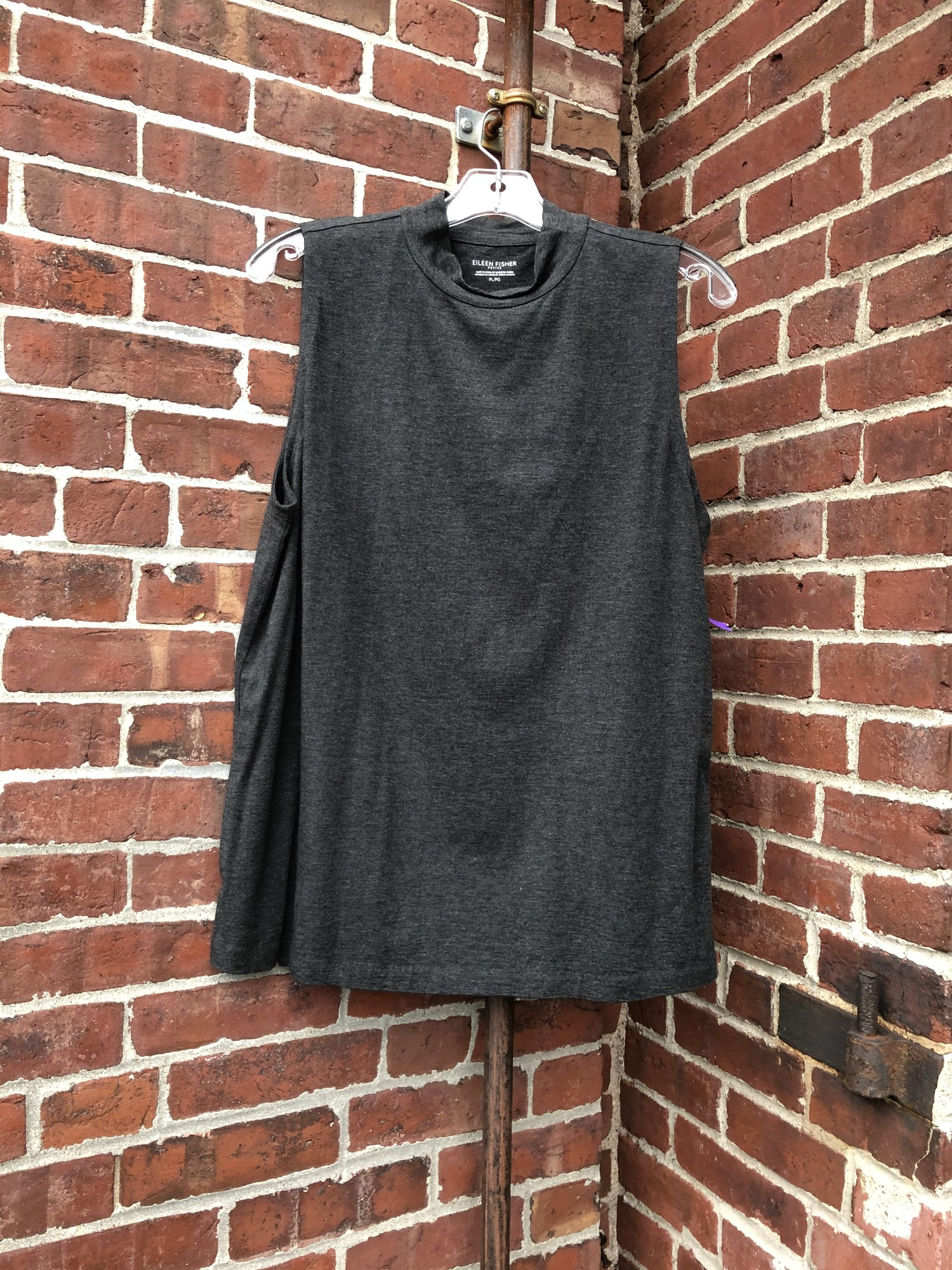 Eileen Fisher Tank, Gray, Size: Large