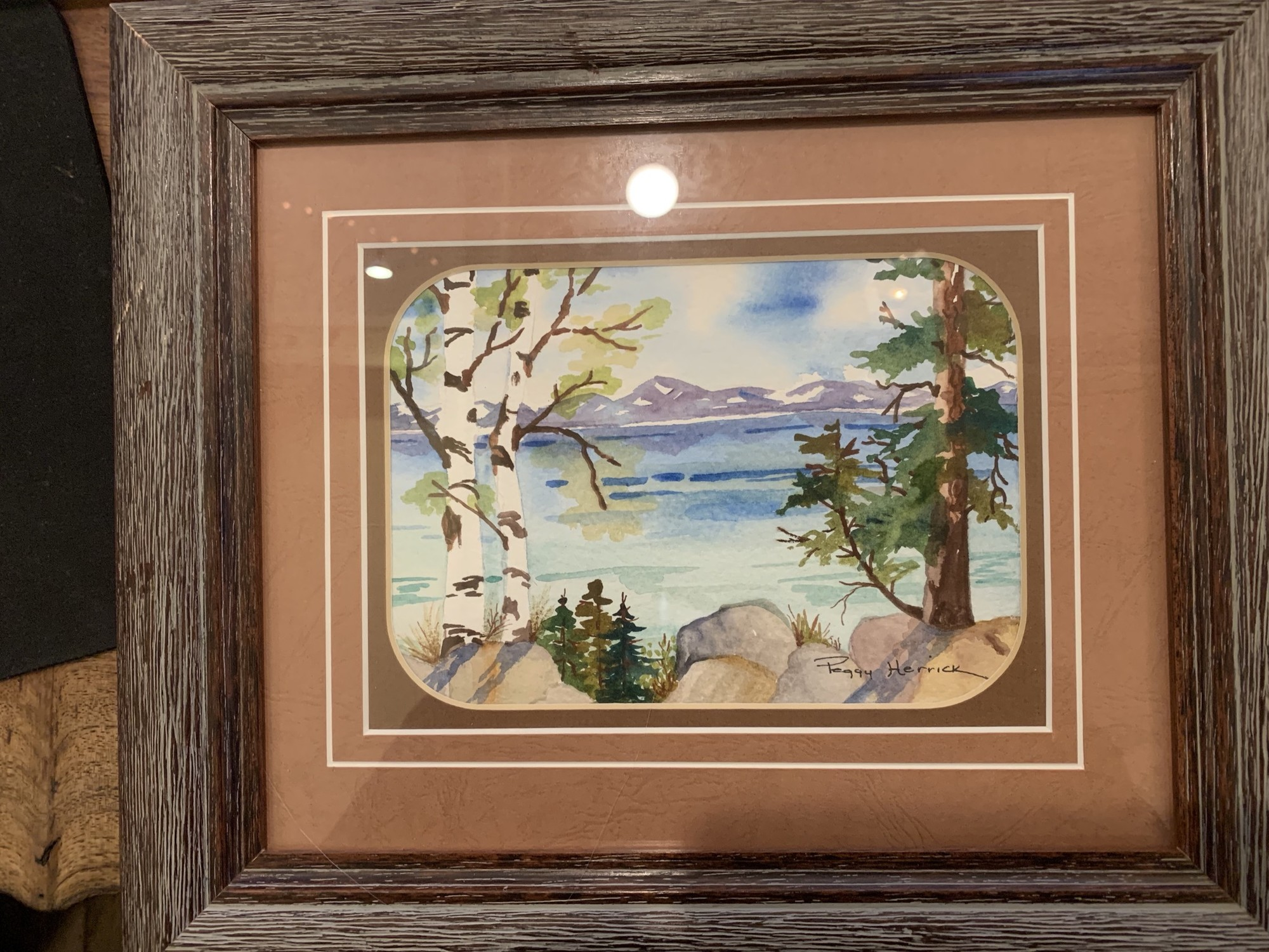"Original art by local artist, Peggy Herrick-""Aspens"". Water Color"