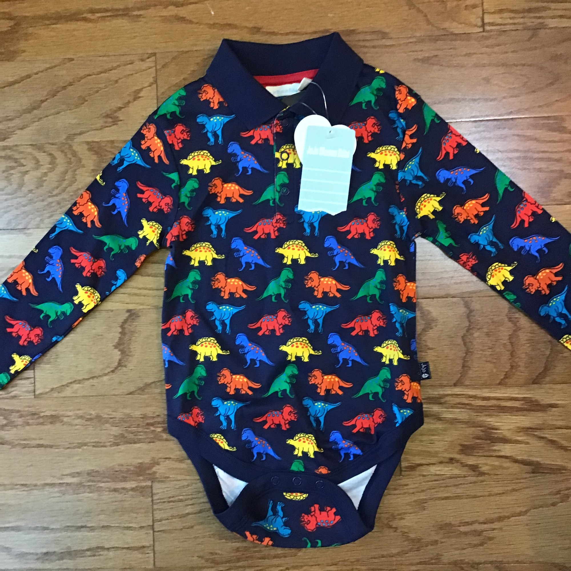Jojo Maman Bebe Onesie, Dino, Size: 2-3<br /> <br /> <br /> ALL ONLINE SALES ARE FINAL. NO RETURNS OR EXCHANGES.
