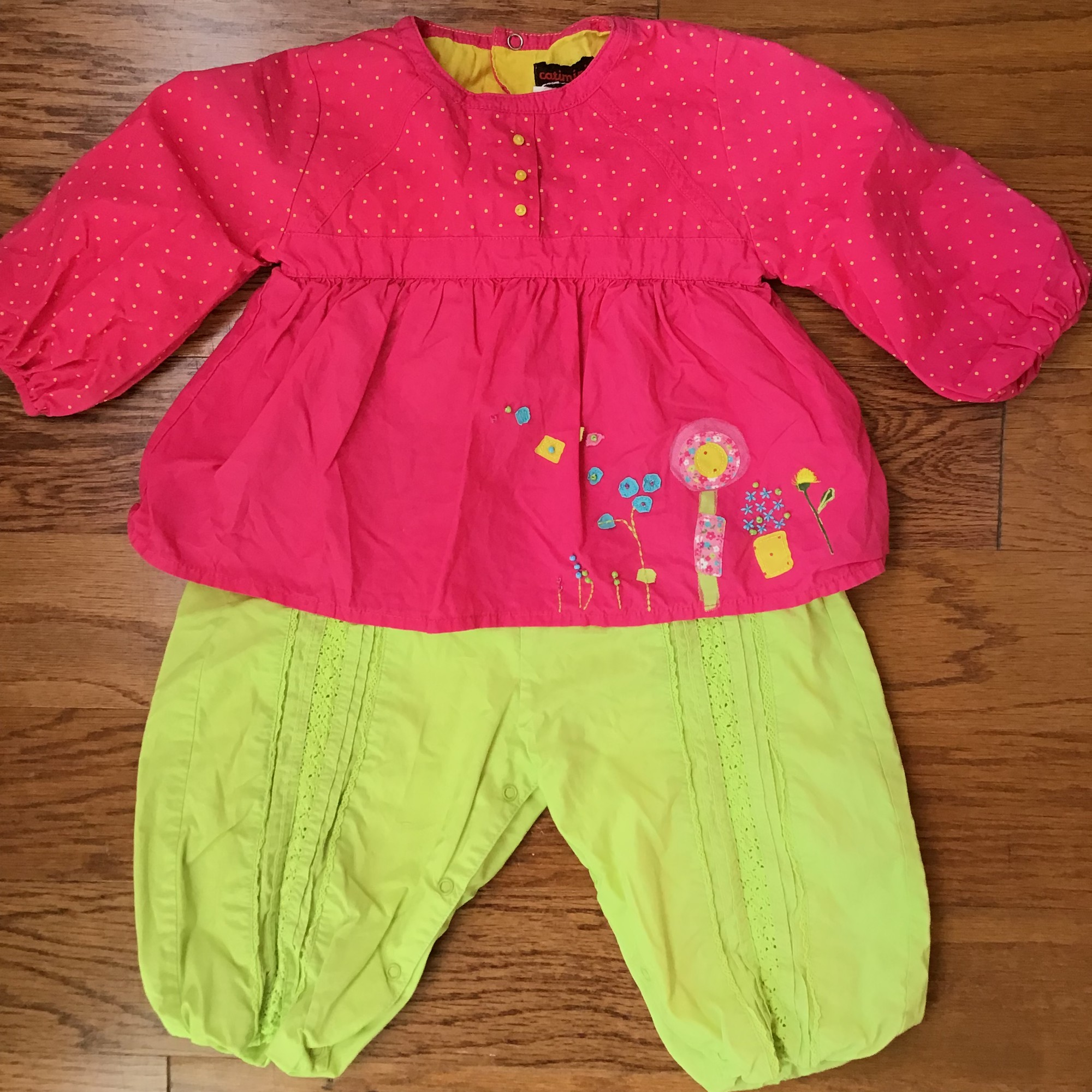 Catimini Romper, Multi, Size: 6m<br /> <br /> <br /> ALL ONLINE SALES ARE FINAL. NO RETURNS OR EXCHANGES.