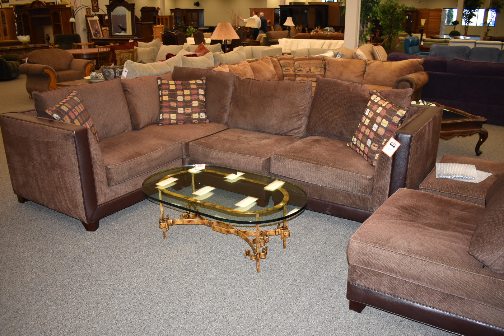 Brown Sectional,