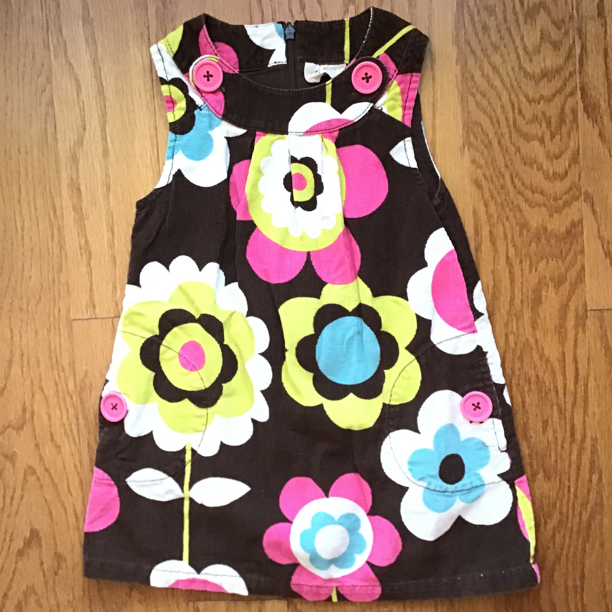Mini Boden Cord Dress, Multi, Size: 2-3<br /> <br /> <br /> ALL ONLINE SALES ARE FINAL. NO RETURNS OR EXCHANGES.