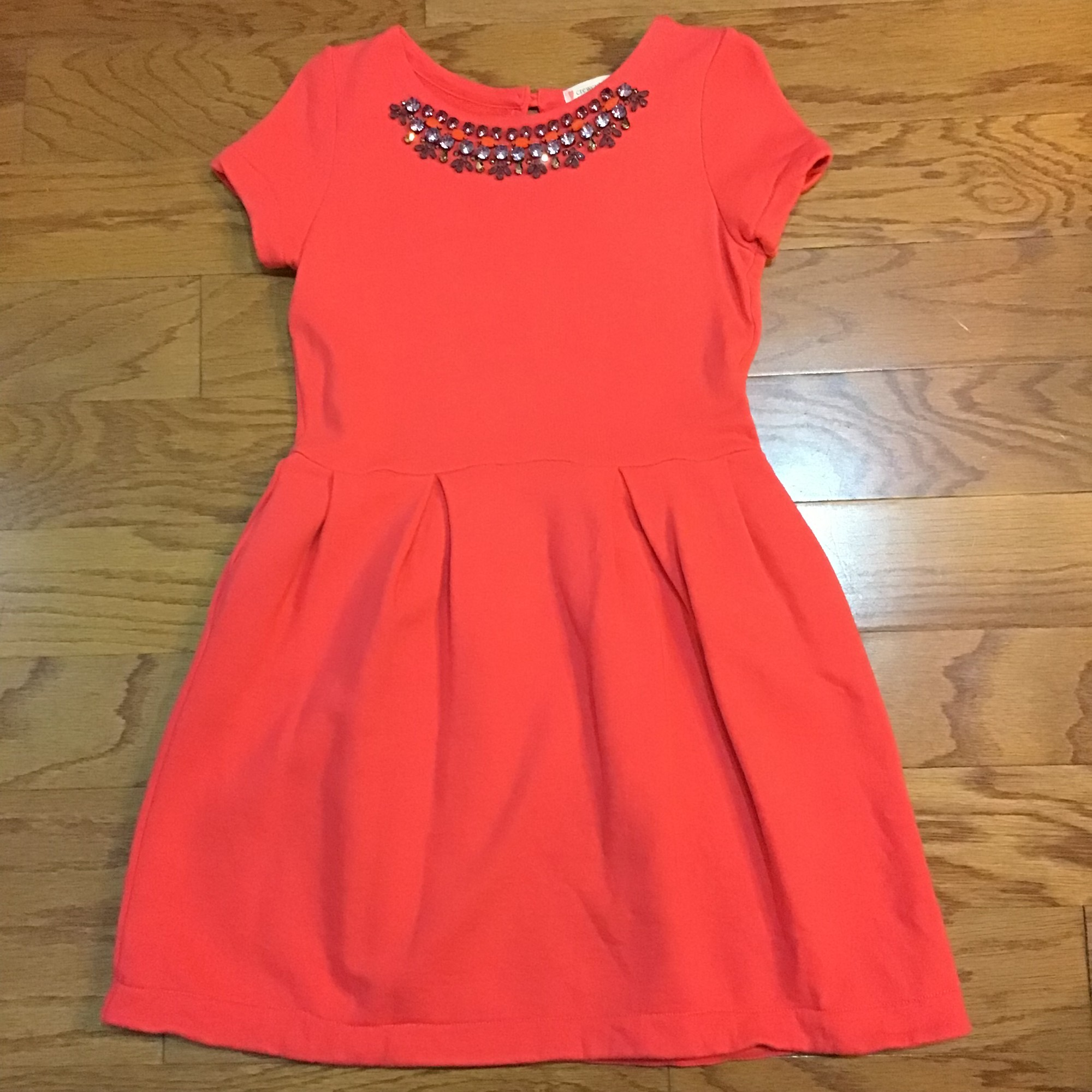 Crewcuts Dress, Coral, Size: 8<br /> <br /> <br /> <br /> ALL ONLINE SALES ARE FINAL. NO RETURNS OR EXCHANGES.