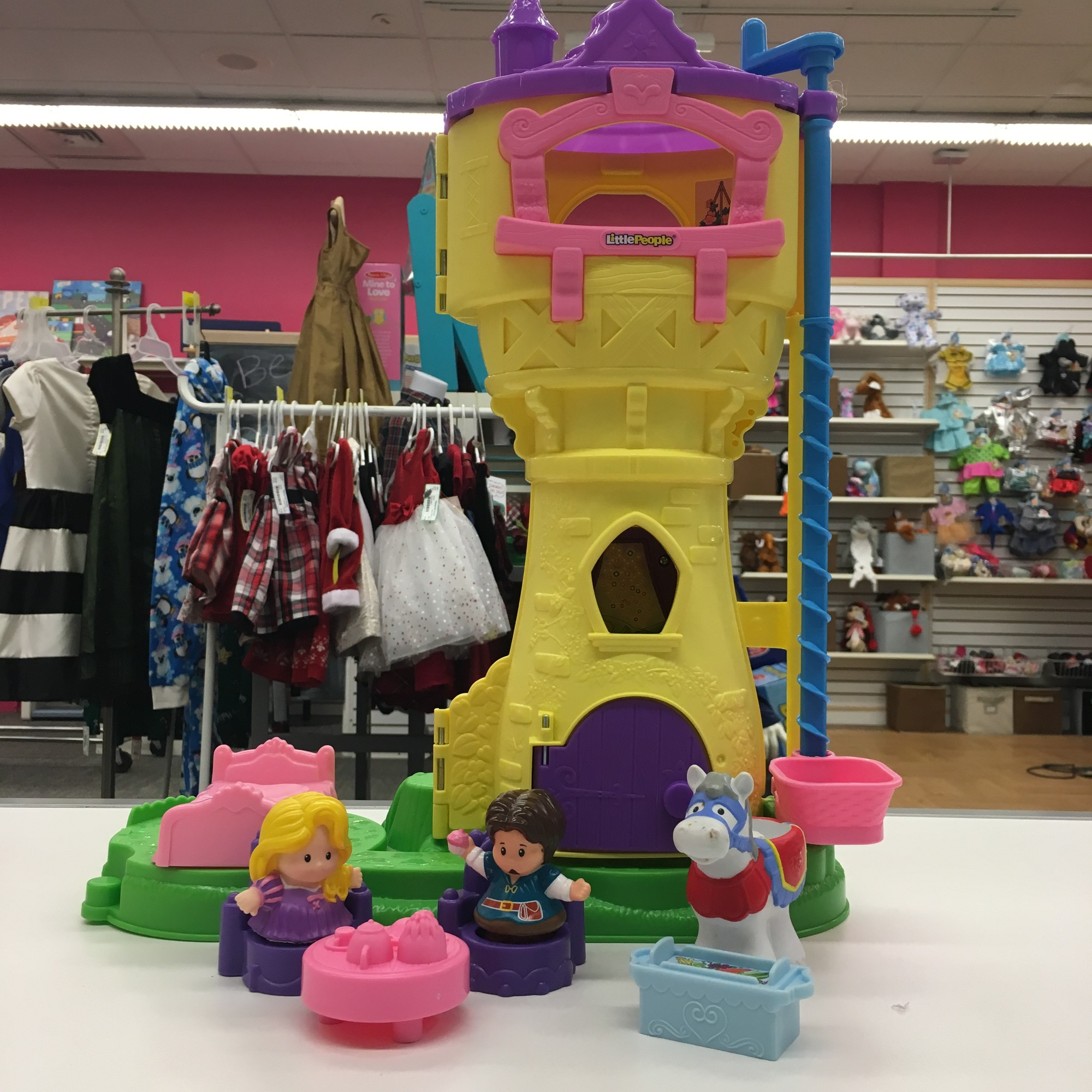Brand: Disney Fisher Price<br /> Rapunzels Tower Play<br /> $20.99<br /> <br /> <br /> *Pick up Only
