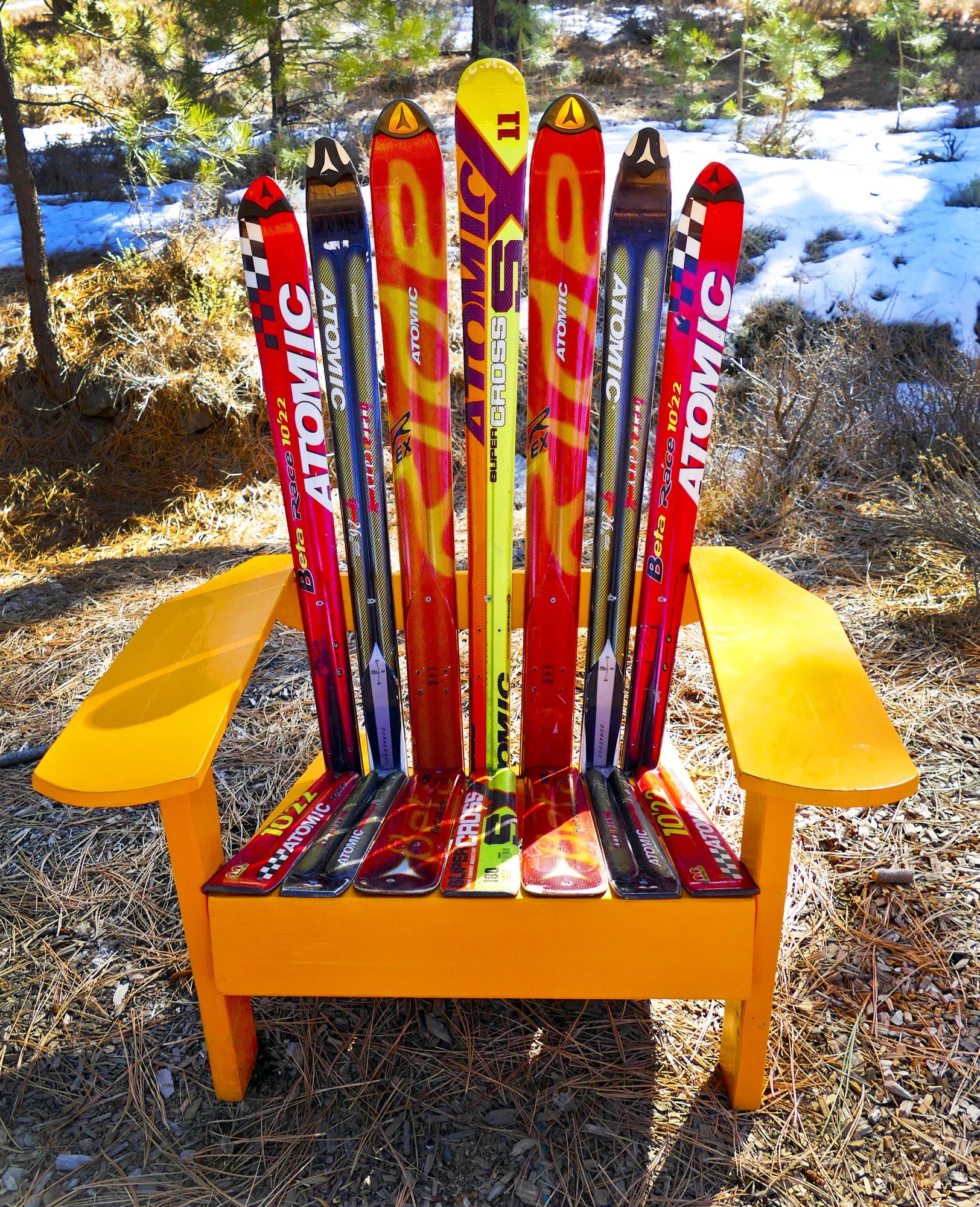 Another Terrific Ski Chair-this time with Austria's well-known Atomic Ski Brand. Perfect for you Tahoe Chalet!