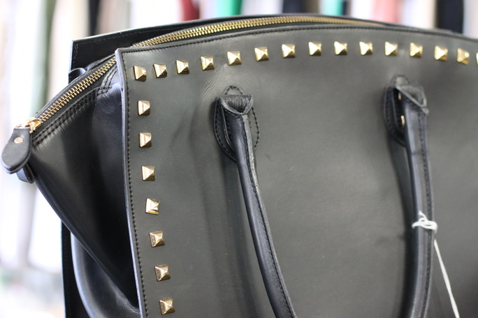 Alberta Di Canio Purse<br /> Black with gold studs<br /> Gorgeous for your fall wardrobe