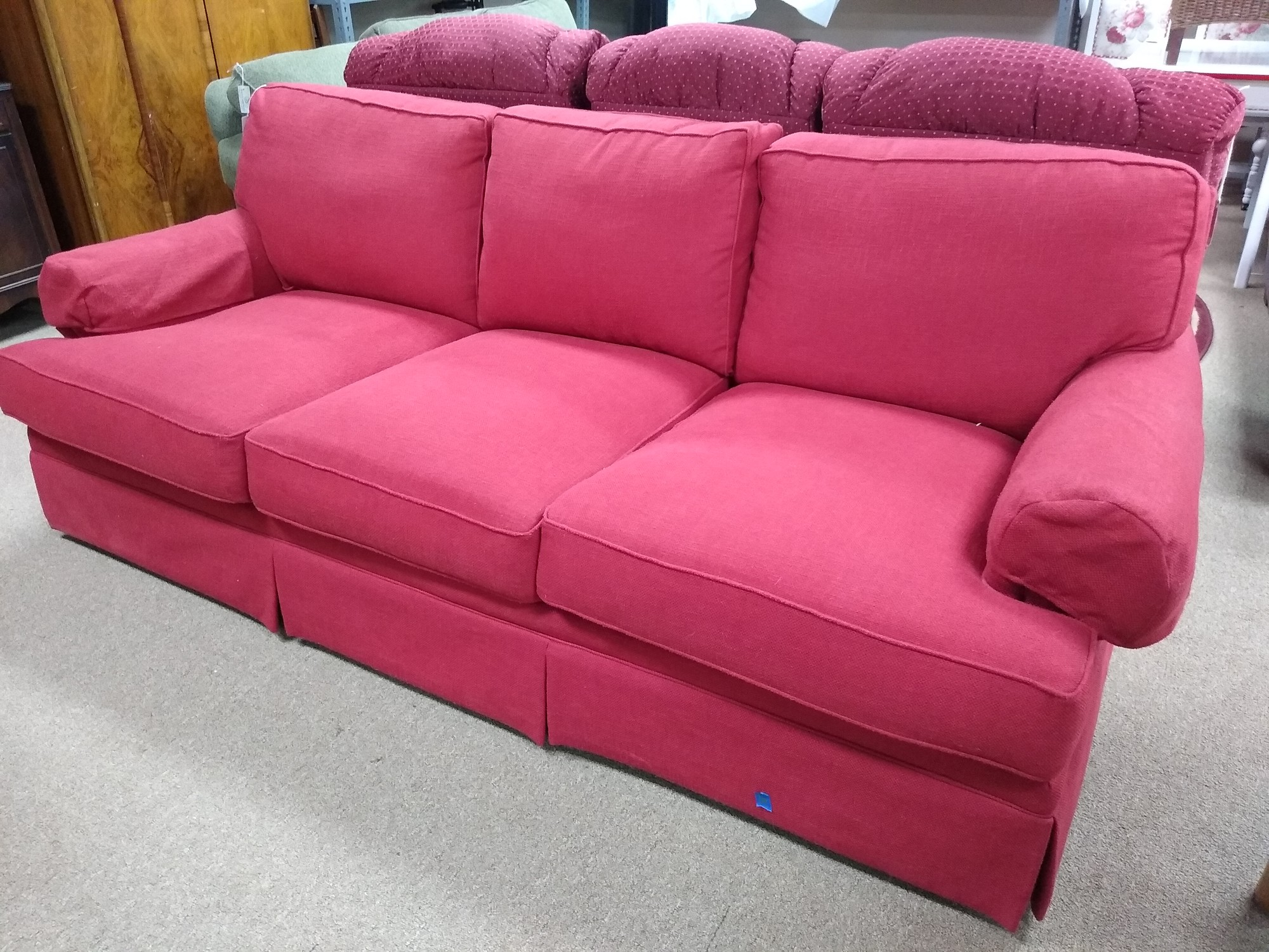 Sofa, Red, Size: 90""