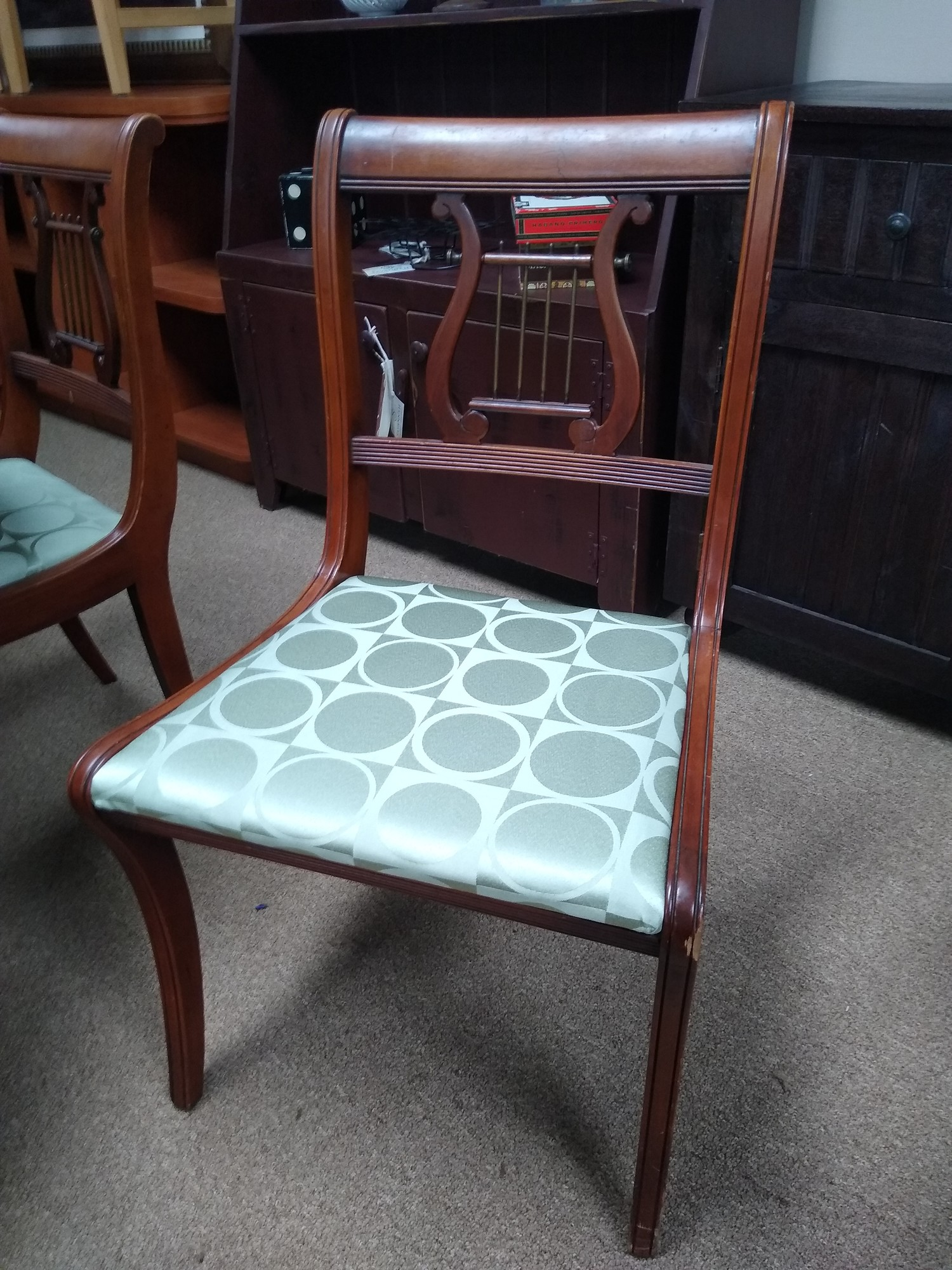 Dining Chairs, Green, Size: Set Of 6