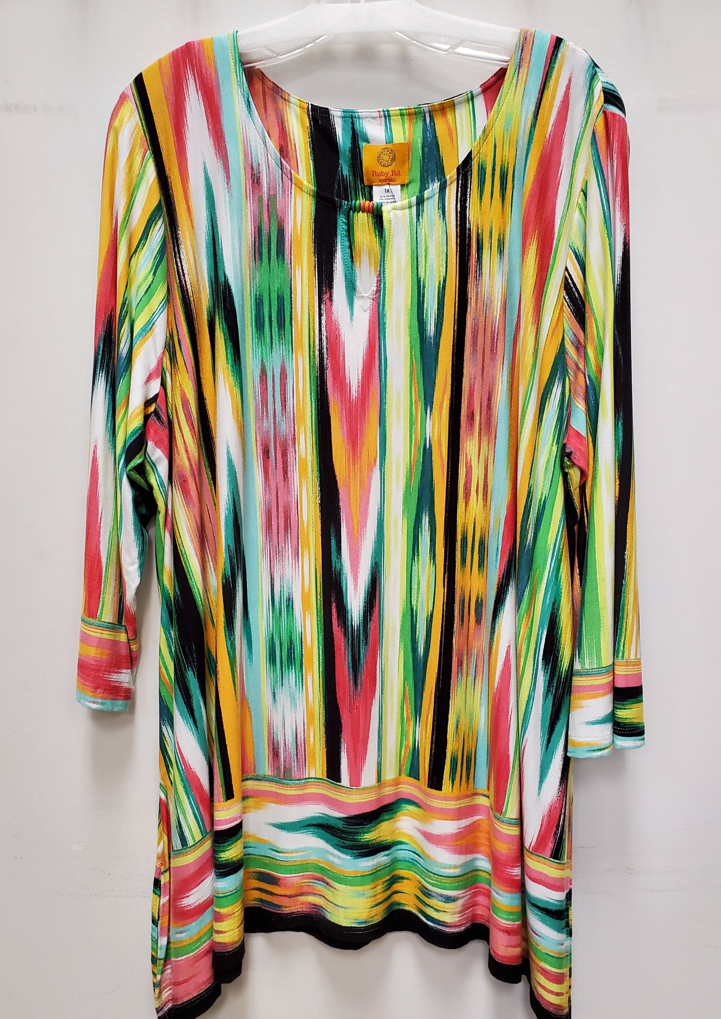 "Ruby Road top<br /> Multi color<br /> 1X<br /> Approx. 33"" in length"