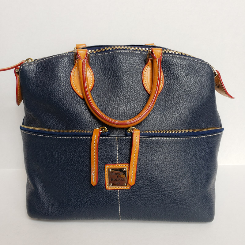 Dooney & Bourke<br /> Navy Leather<br /> Satchel