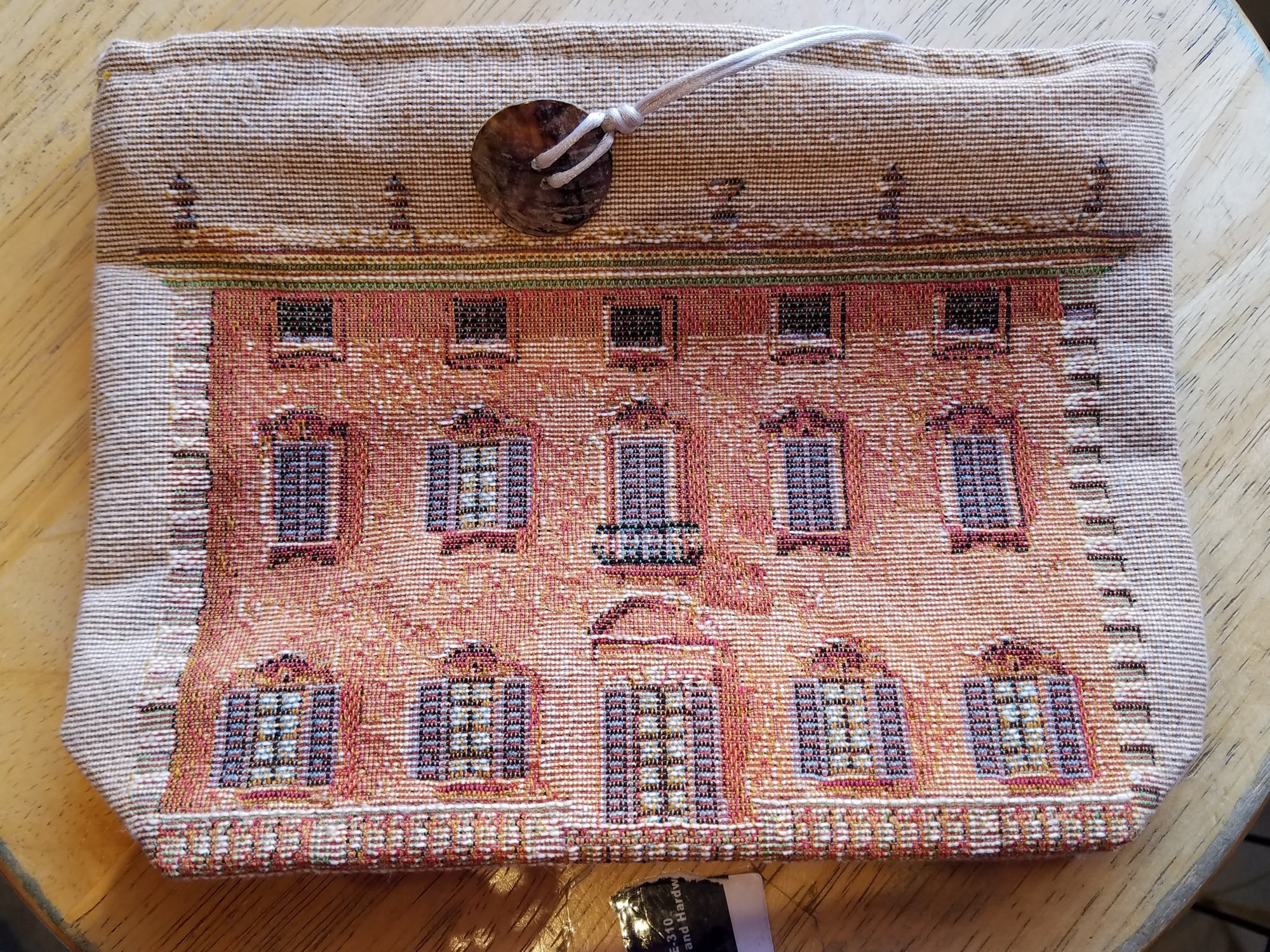 Iosis Vintage Cosmetic Bag ~ Beautiful Tapestry of a Paris Chalet ~  EUC<br /> Luxurious Totes and Small Bags , made by Iosis by Yves Delorme Paris, designed and crafted in France with a passion for linens since 1845