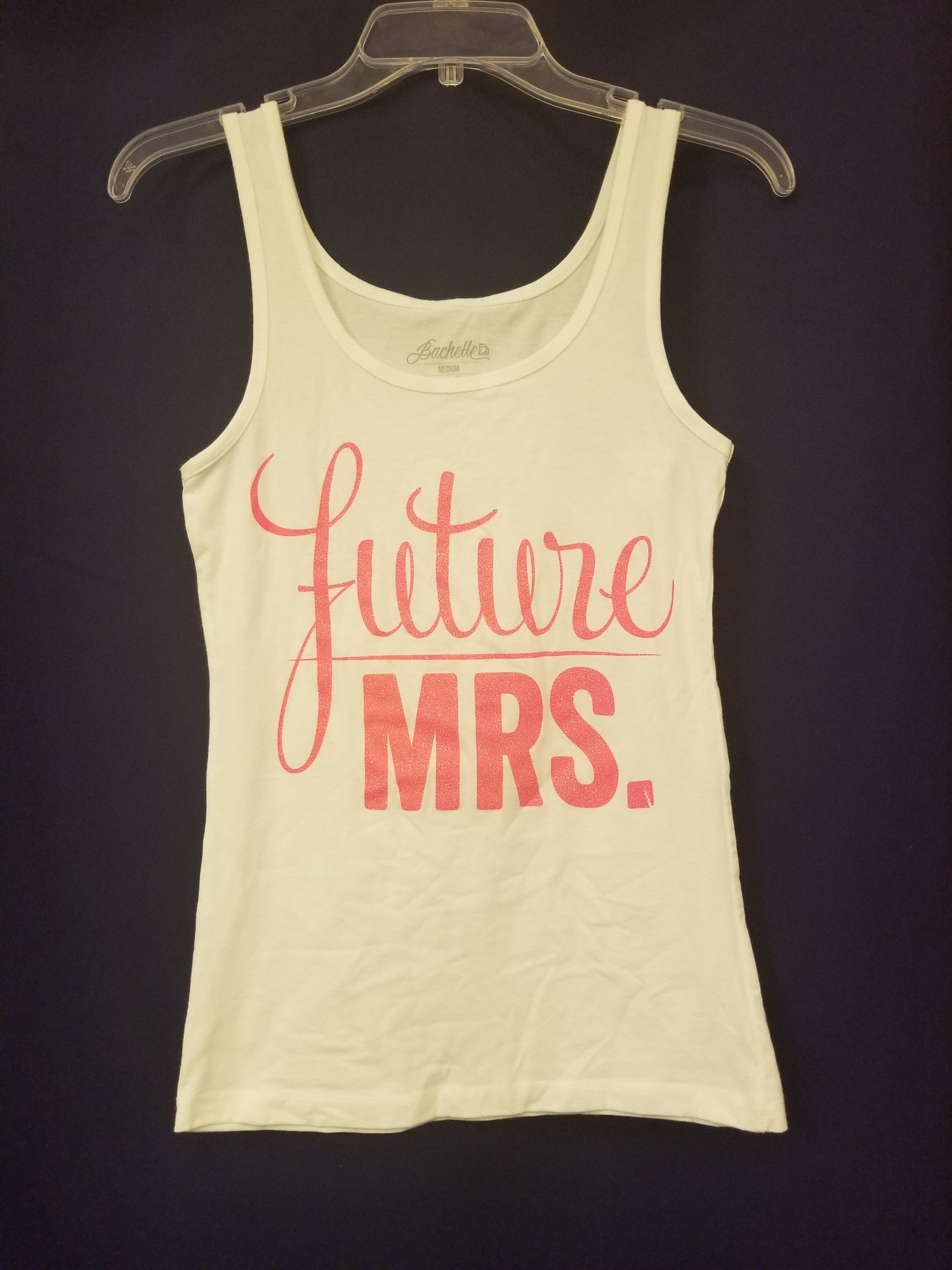 Future Mrs Tank Top, White/Pink, Size: M