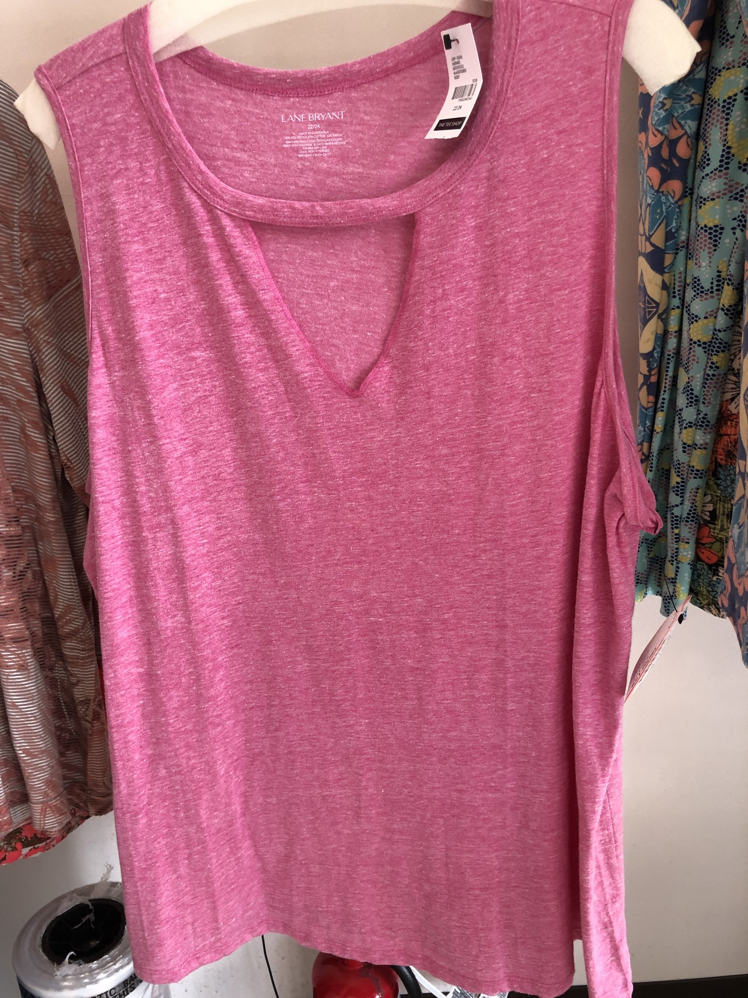 From the Lane Bryant Tee Shop.  Lane Bryant Sleeveless Summer Tee.  NWT.  $12.99